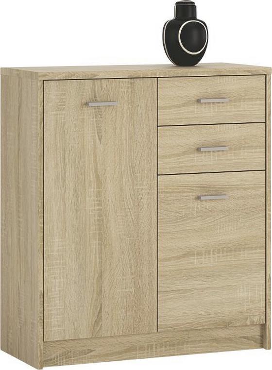 Komoda 4-you Yuk04 - dub sonoma, Moderný, drevený materiál (74/85,4/35,2cm)