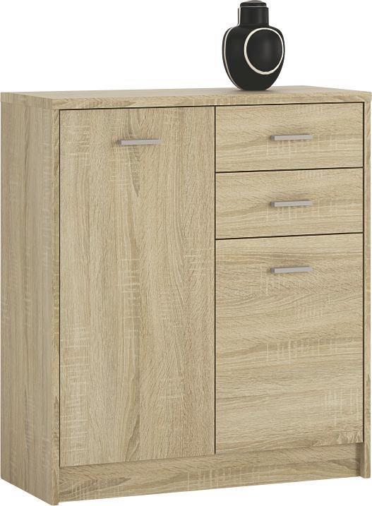 Komoda 4-you Yuk04 - Sonoma dub, Moderní, kompozitní dřevo (74/85,4/35,2cm)