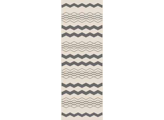 Koberec Tkaný Na Plocho Edgar 1 - barvy stříbra/krémová, Moderní, textil (80/200cm) - Modern Living
