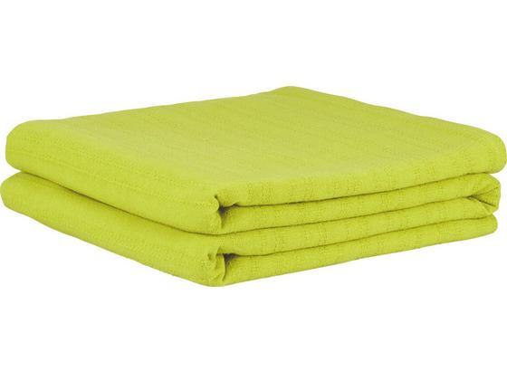 Přehoz Solid One -ext- - zelená, textil (240/210cm) - Based