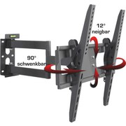 TV-Wandhalter Ws 200 B: 46 cm - Schwarz, KONVENTIONELL, Metall (46/10,5-54,5/54,5cm) - Livetastic