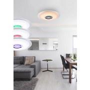 Led Deckenleuchte Ø 47,5 cm mit Farbwechsler & Bluetooth - Opal/Weiß, MODERN, Kunststoff/Metall (47,5/5,7cm)