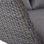 Záhradná Pohovka Curly - sivá, Moderný, kov/textil (190/88-153/102cm) - Modern Living