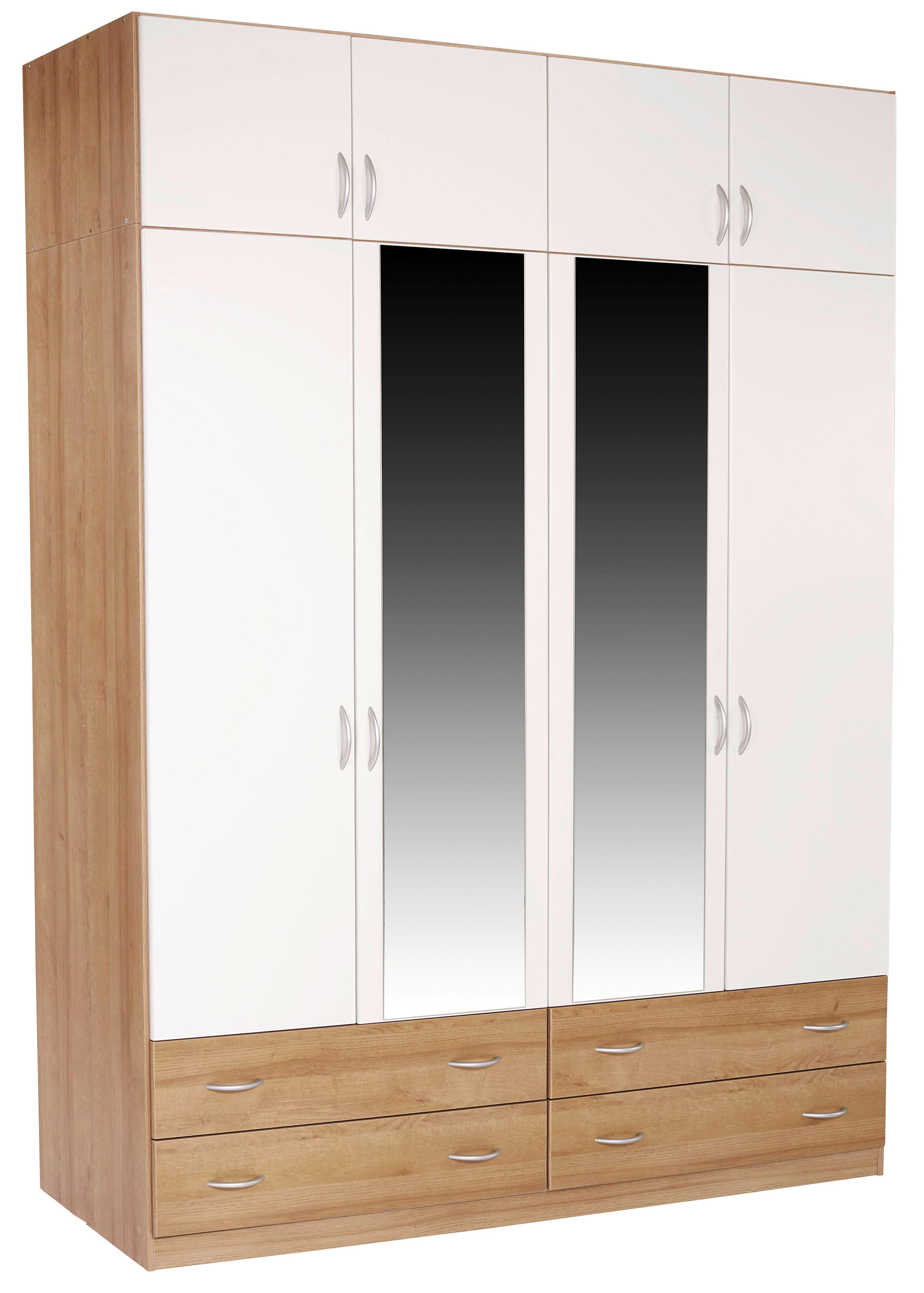 Szekrényrátét Karo-extra - tölgy színű/fehér, konvencionális, faanyagok (181/39/54cm)