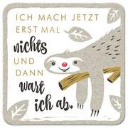 Glasuntersetzer Nichts - Hellgrau/Weiß, KONVENTIONELL, Holz (9,5/9,5/0,4cm)