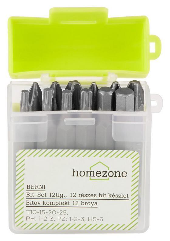 Bitset Berni - Gelb/Silberfarben, Kunststoff/Metall - Homezone