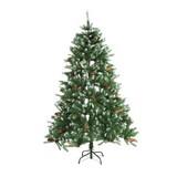 Weihnachtsbaum Christmas - Grün, MODERN, Kunststoff/Metall (90/90/150cm)