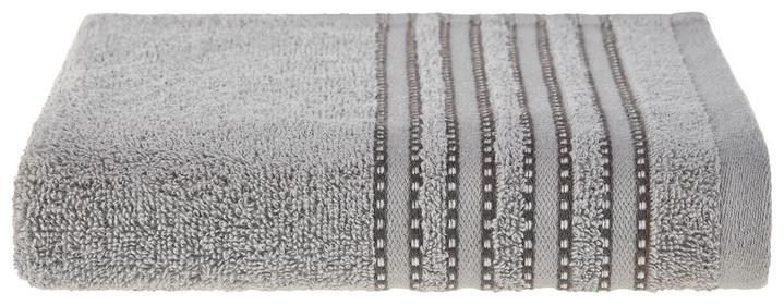 Duschtuch in Grau mit hübscher Bordüre
