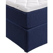 Boxbett Carolina 140x200 Blau - Blau/Schwarz, KONVENTIONELL, Holz/Textil (143/105/209cm) - Carryhome