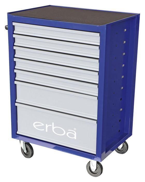 Werkstattwagen inkl. 158-teiligem Werkzeugset - Blau/Schwarz, MODERN, Kunststoff/Metall (67,5/84/48cm) - Erba