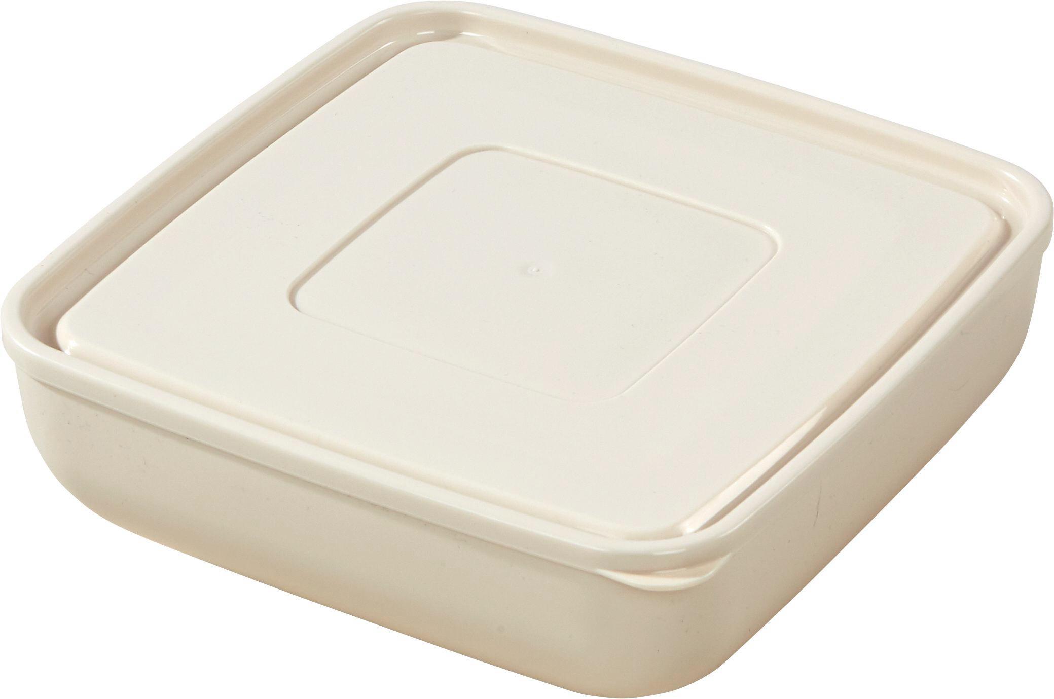 Tárolóedény Ines - krém/szürke, konvencionális, műanyag (27/9,2cm) - OMBRA