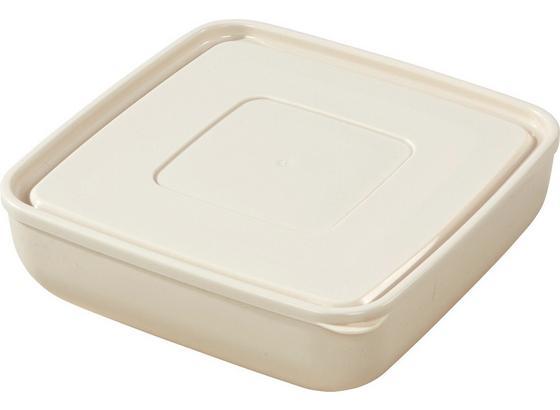 Vorratsdose Ines, 3 Liter - Creme/Grau, KONVENTIONELL, Kunststoff (23,5/7,8cm) - Ombra