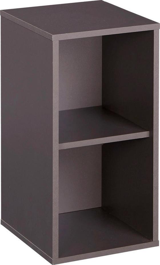 Polc Box - Szürke, modern, Faalapú anyag (23/46/25cm)