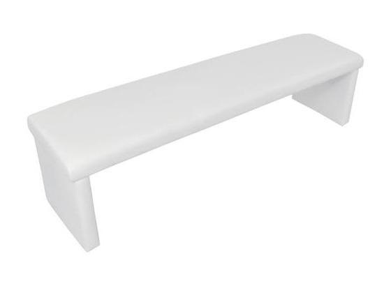 Sitzbank Charisse B: 160 cm Weiß - Weiß, MODERN, Textil (160/48/45cm) - Livetastic