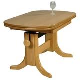 Ausziehbarer Couchtisch Holz + Höhenverstellbar Scala, Buche - Buchefarben, Design, Holz (90-135/60/56-72cm) - Livetastic