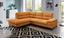 Wohnlandschaft in L-Form Janine 208x250 cm - Currygelb/Grau, MODERN, Textil (208/250cm)