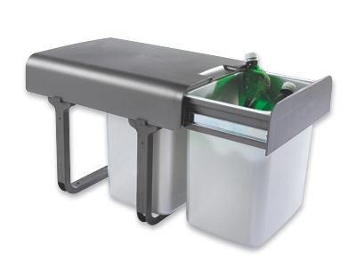 Einbauabfallsammler Ekko - Dunkelgrau/Silberfarben, Kunststoff (35/36/47cm)