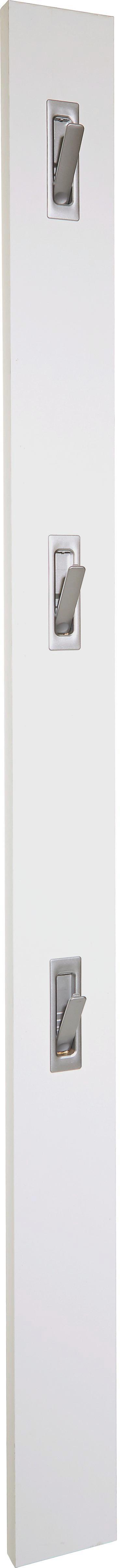 Nástenný Vešiak Enzo - biela, Moderný, kompozitné drevo (12/175/2,8cm)