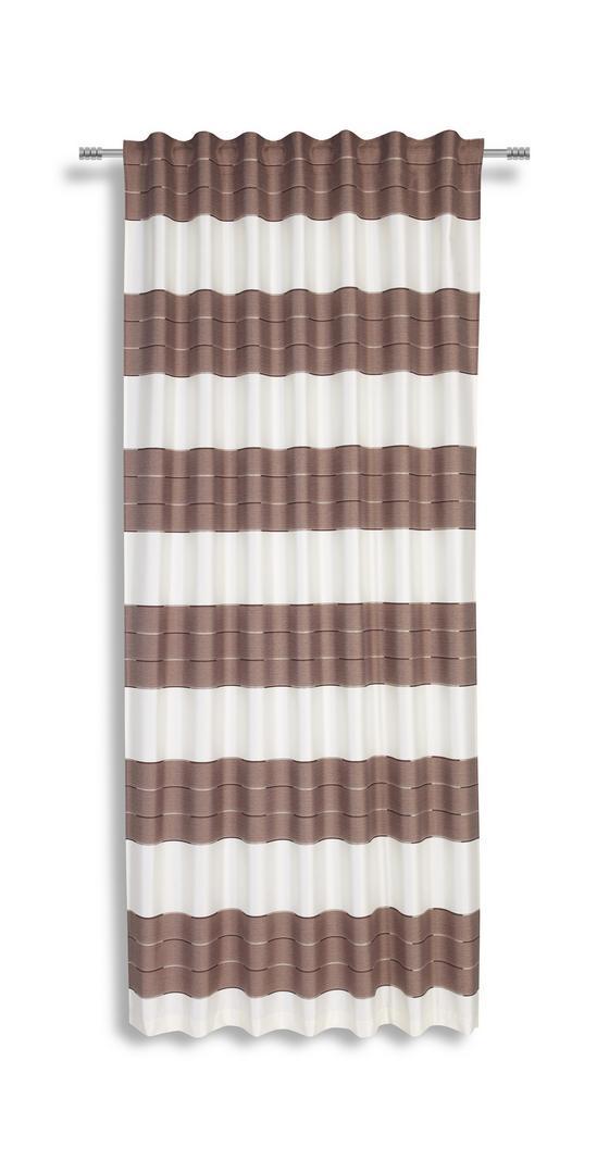 Fertigvorhang Nadine - Taupe, KONVENTIONELL, Textil (140/245cm) - Luca Bessoni