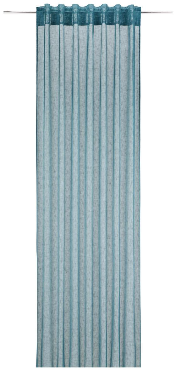 Závěs Mila, Ca. 140x245cm - petrolej, Konvenční, textilie (140/245cm) - Mömax modern living