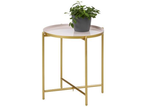 Odkladací Stolík Leah -trend- - zlatá/ružová, Moderný, kov (37/40cm) - Modern Living
