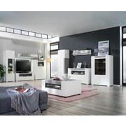 Sideboard Toronto - Silberfarben/Hellgrau, MODERN, Holzwerkstoff (140/85/42,2cm) - Ombra