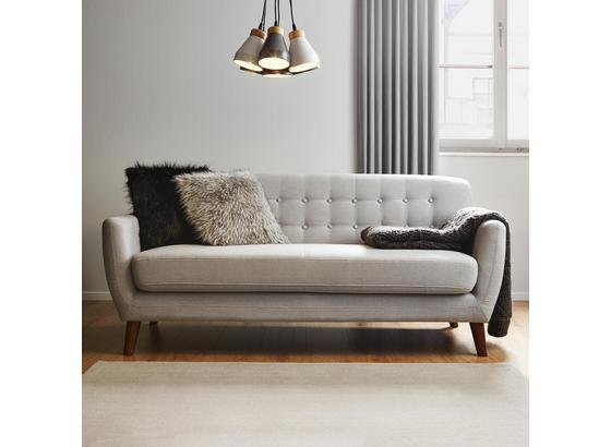 Pohovka Xavier - svetlosivá, Moderný, drevo/textil (176/81/76cm) - Modern Living