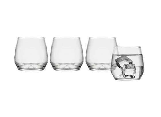Wasserglas Iskandar, ca. 370ml, 4 Stück - Klar, MODERN, Glas (0,37l) - Luca Bessoni