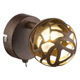 LED-Spotleuchte Esra - Rostfarben/Goldfarben, MODERN, Metall (8/14/12cm)
