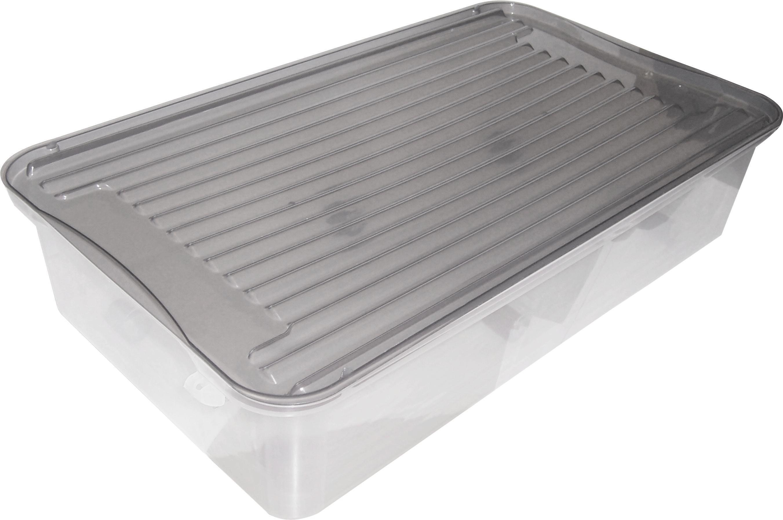Ágy Alatti Tároló Műanyag - tiszta, konvencionális, műanyag (76/17/39cm)