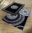 Webteppich Daryl 160x230 cm - Schwarz/Weiß, KONVENTIONELL, Textil (160/230cm) - Ombra