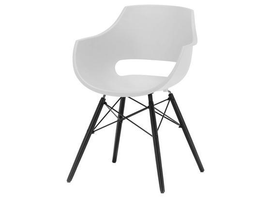 Stuhl Rockville B: 60 cm Weiß - Schwarz/Weiß, MODERN, Holz/Kunststoff (60/85/54cm)