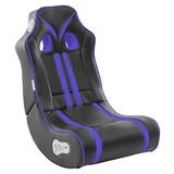 Gamingstuhl Ninja B: 56 cm Schwarz/Blau - Blau/Schwarz, Design, Textil (56/100/82cm) - MID.YOU