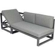 Greemotion Loungegarnitur Costa Rica - Alufarben/Grau, KONVENTIONELL, Textil/Metall (198/203,5cm) - GREEMOTION