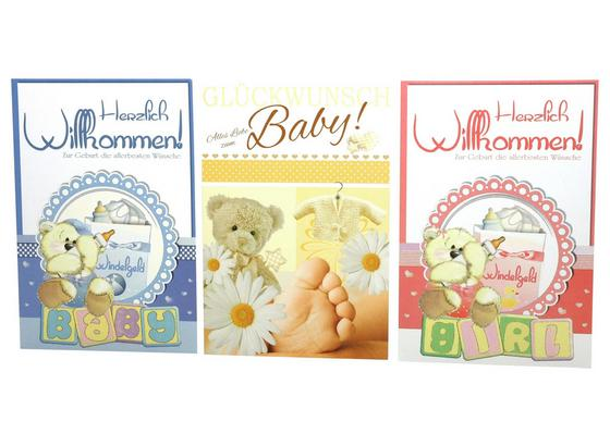 Billett Baby - Multicolor, MODERN, Papier (11,5/17,5cm)