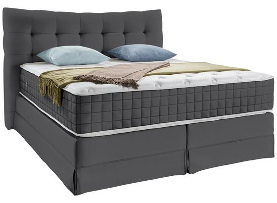 Boxspringbett Domino ca.180/200cm, Grau - Grau, KONVENTIONELL, Holz (180/200cm) - James Wood