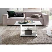 Couchtisch L: ca. 95 cm Weiß - Weiß, MODERN, Holzwerkstoff/Kunststoff (95/54,5/51cm) - Livetastic