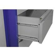 Werkbankset Xxs 134 cm Grau/blau - Blau/Grau, KONVENTIONELL, Holz/Metall (134/88/60cm) - Erba