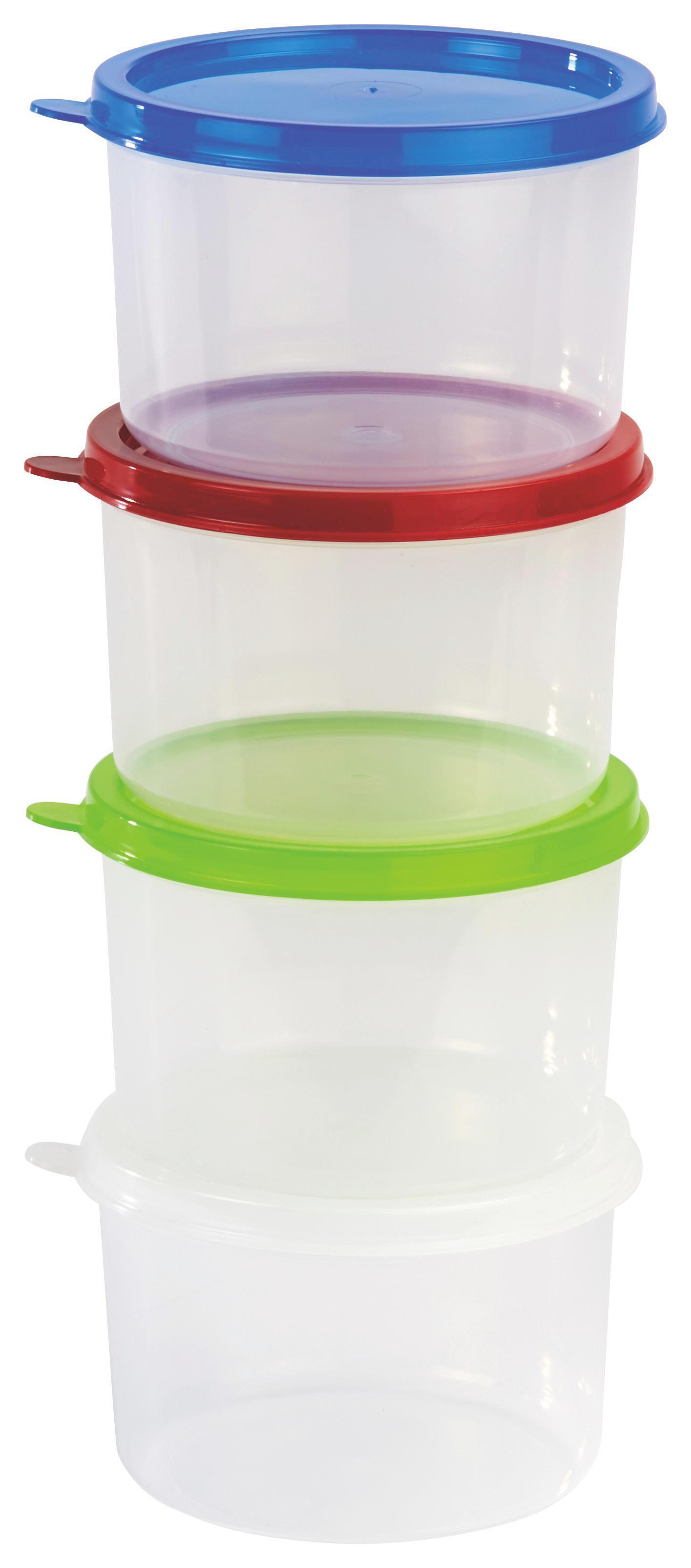 Frissentartó Doboz Color - natúr színek/piros, konvencionális, műanyag (10/7.3cm)