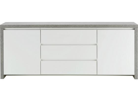 Komoda Sideboard Lario - biela, Moderný, kompozitné drevo (190/75/40cm) - Mömax modern living