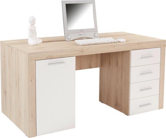 Schreibtisch Cubus - Eichefarben, MODERN, Holzwerkstoff (160/75/70cm)