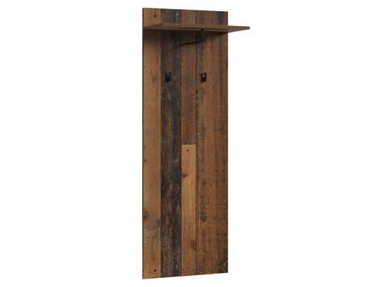 Garderobenpaneel Justus B: 48 cm Dunkelbraun - Dunkelbraun, MODERN, Holzwerkstoff (48/140/28cm) - MID.YOU