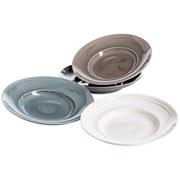Pastatellerset 4-Tlg. Derby - Blau/Beige, Basics, Keramik - Mäser