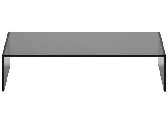 Tv Nadstavec Glas - tmavosivá, sklo (60/14/30cm) - Mömax modern living