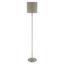 Állólámpa Stehleuchte - szürkésbarna/fehér, konvencionális, textil/fém (28/157.5cm)