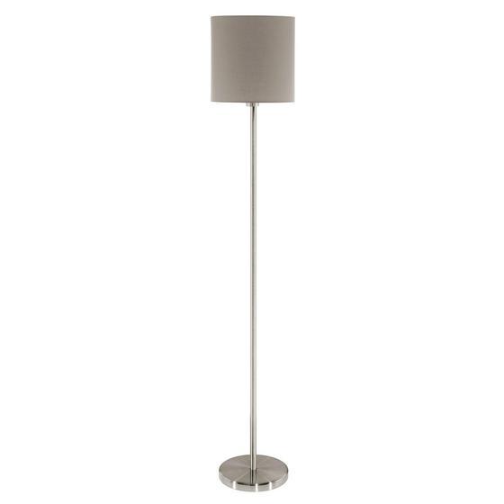 Állólámpa Stehleuchte - Taupe/Fehér, konvencionális, Fém/Textil (28/157.5cm)