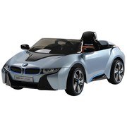 Ride On Car Bmw I8, Blau - Schwarz/Hellblau, KONVENTIONELL, Kunststoff (127/76/52cm)