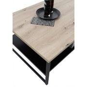 Couchtisch Holz mit Ablagefach Metall Lukas Eiche/Schwarz - Eichefarben/Schwarz, MODERN, Holzwerkstoff/Metall (120/60/40cm) - MID.YOU