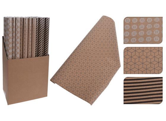 Geschenkpapier Graphic - Schwarz/Braun, Basics, Papier (70/200cm)
