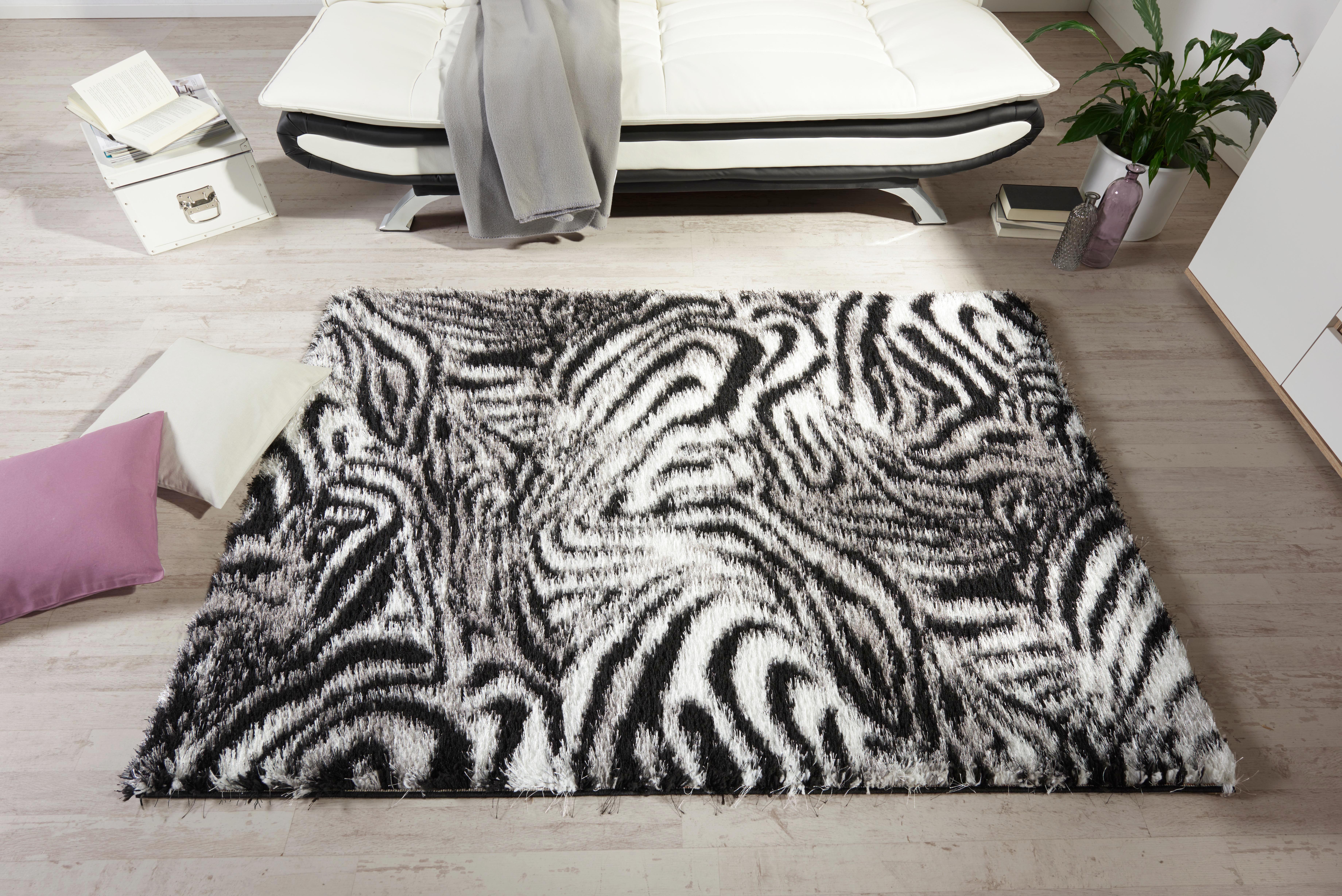 Szőnyeg Shila - fekete/fehér, konvencionális, textil (160/230cm) - OMBRA
